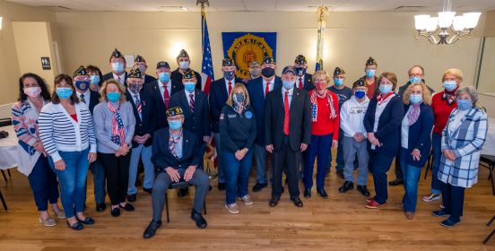 Group photo with veterans