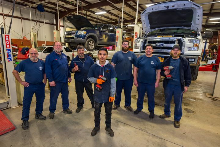 BOCES Automotive Interns at the Town of Islip