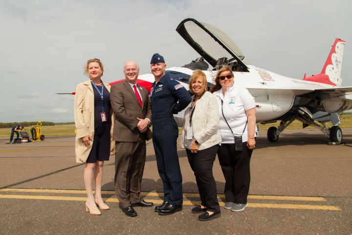 U.S. Air Force Thunderbirds Arrive at Long Island MacArthur Airport