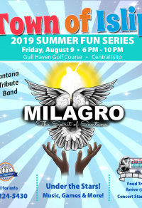 A flyer image of the Milagro Concert Night event, call (631) 224-5411 for more   information