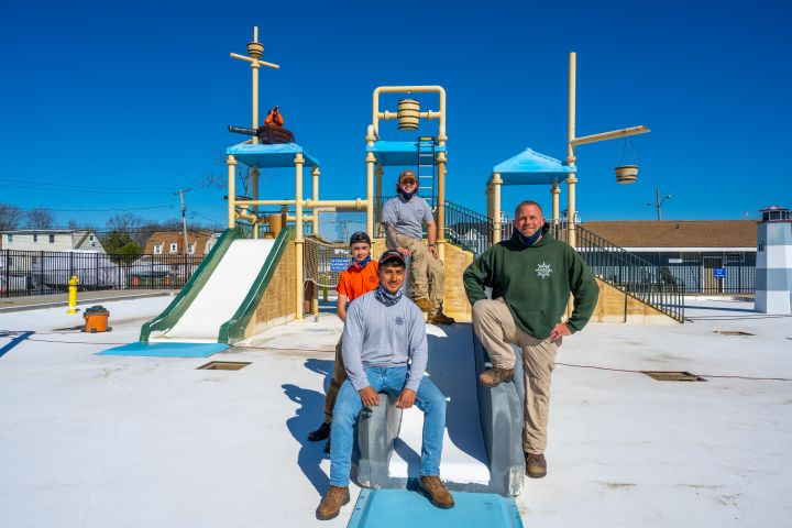 Town Crews Ready Spray Park for Summer 2021